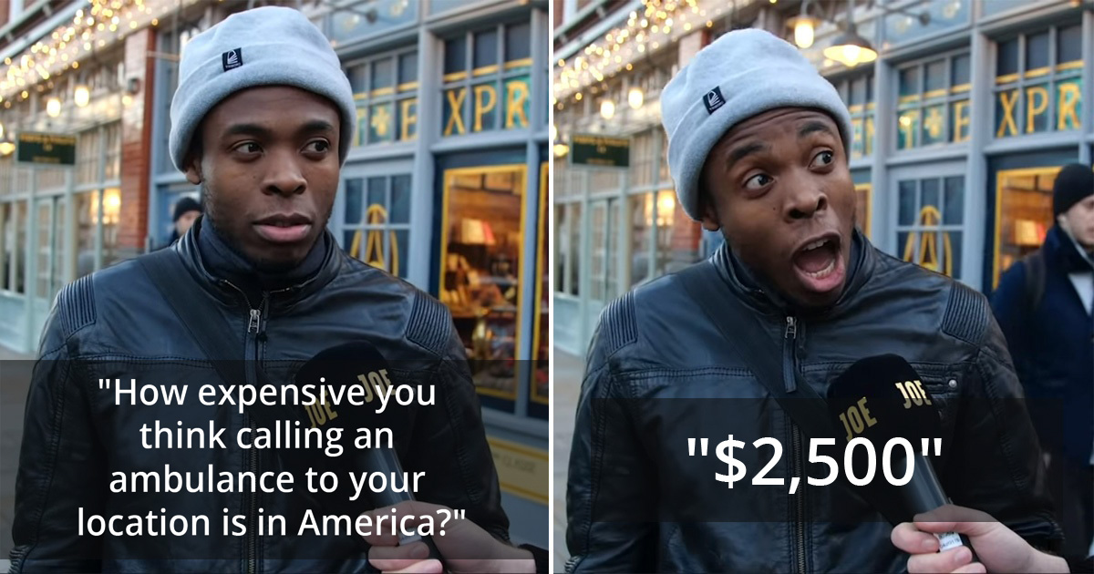 Brits React With Great Surprise When They Hear The Real Costs Of US Healthcare