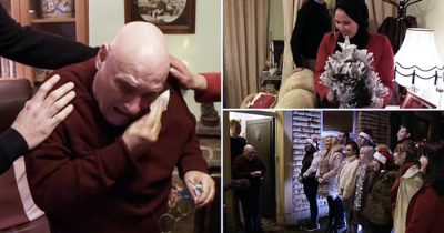 Lonely Pensioner Teared Up After Students Surprise Him With Incredible Christmas Gift
