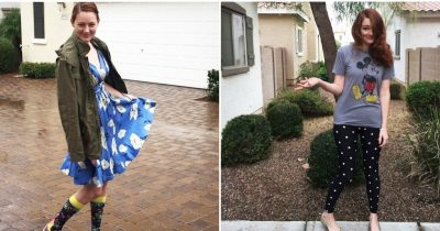 Mom lets son chooses her outfits for the week and the results are hilarious.