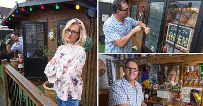 Wife Builds Husband £15,000 Own Pub In Back Garden To Stop Him Going To The Local