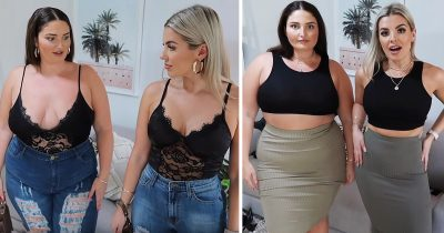 Best Friends With Different Body Shapes Try On Same Outfits From A Budget Brand