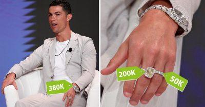 Cristiano Ronaldo Drizzles In Diamonds At Dubai Sports Conference