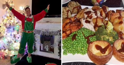 Grandma charges her family fee for the lavish Christmas dinner they enjoy.