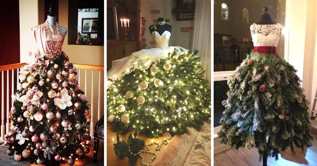 People Are Upcycling Mannequins Into Pretty Christmas Tree Gowns