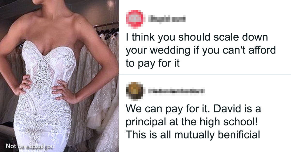 Bride Expects To Pay Guests With Exposure