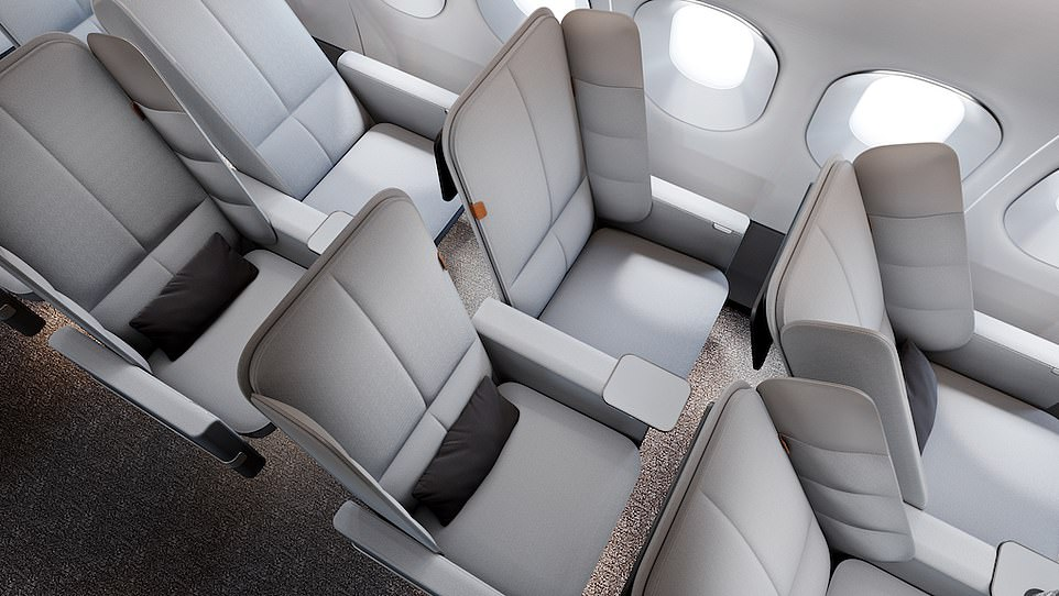 Universal Movement Unveils New Economy Seat With Deployable Padded Wings For Passengers To Lean On