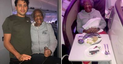 Young Passenger Gives His First-Class Seat To 88-year-Old Woman And Sits Near Toilet Instead