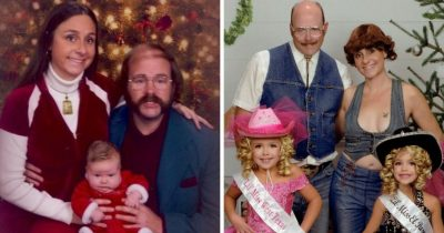 Family Sends Hilariously Awkward Christmas Cards For 16 Years