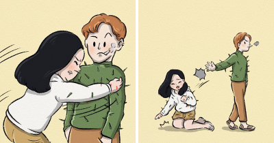 Illustrator Creates 18 Intriguing Comics With Unexpected Endings