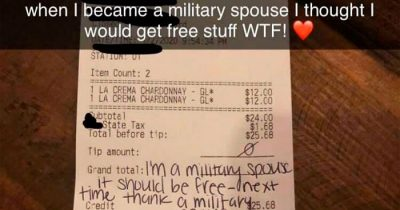 Entitled Military Spouse Allegedly Lost It When Asked By Restaurant To Pay For A Wine She Ordered