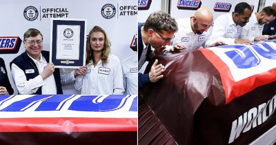 Snickers Launches World's Biggest Chocolate Bar Weighing 4,728 Pounds