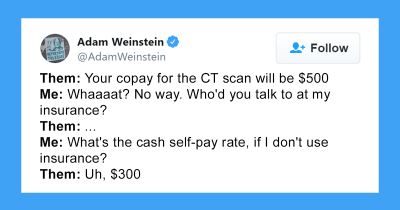 Person Shares Personal Experience Of Trying To Get A CT Scan In USA And It's Annoying