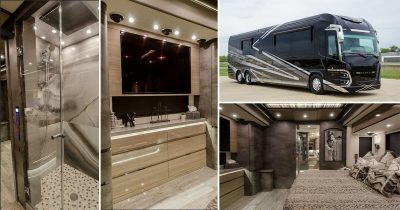 Luxury Porsche-Designed RV Has A King-Sized Bedroom, Full Bathroom, Complete Kitchen