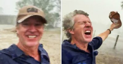 Australian Farmer Rejoices Over Heavy Rain On His Drought-Stricken Property