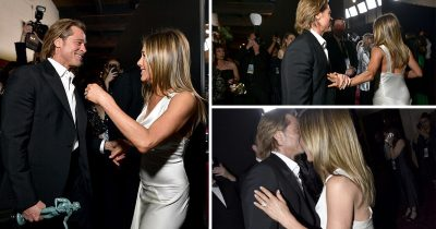Brad Pitt And Jennifer Aniston Emotionally Reunite Backstage At SAGS Awards
