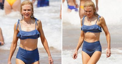 Nicole Kidman, 52, Shows Off Incredible Physique In Blue Bikini