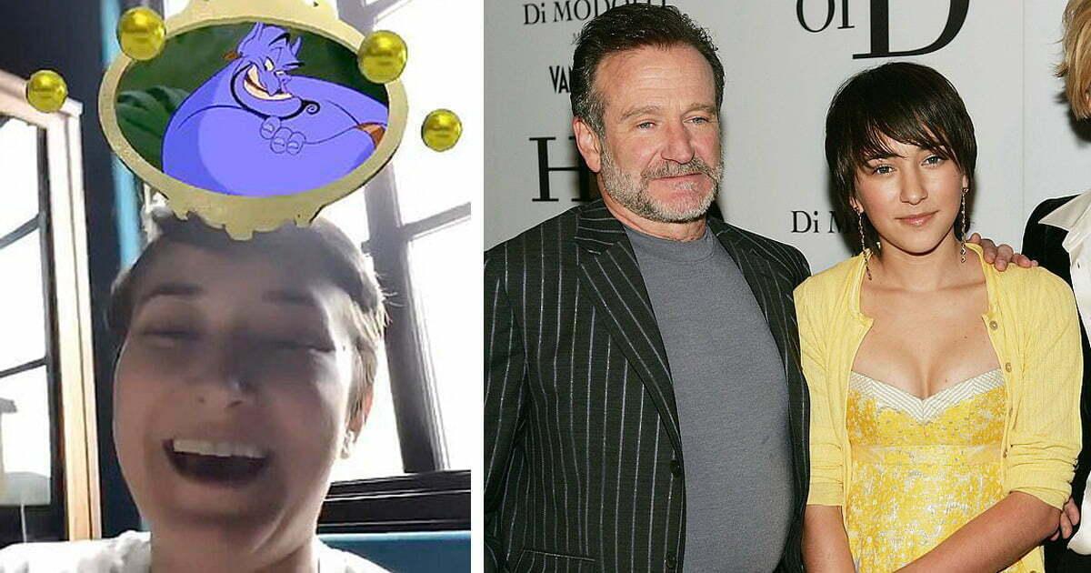Robin Williams' Daughter Zelda Is The Genie In Disney Instagram Filter