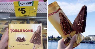 Toblerone Releases An Ice-Cream Version Of It's Chocolate Across Australia