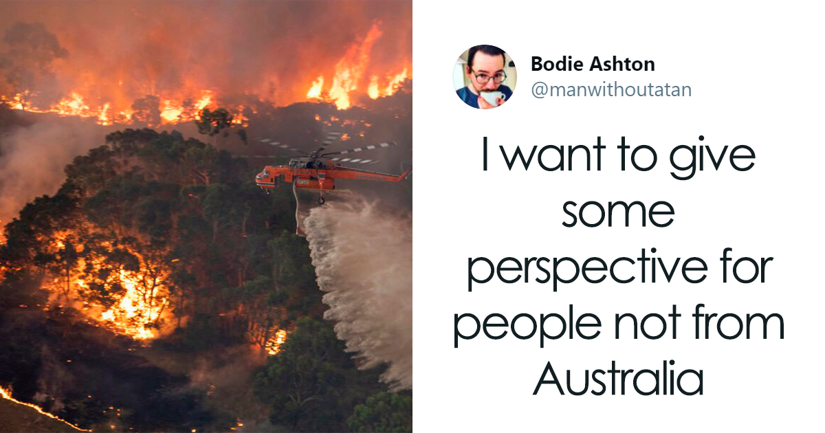 Man posted Twitter thread on harsh facts of Australian bushfire 2019.