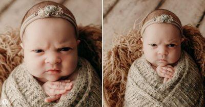 Baby Girl's 'Mean Mug' Photoshoot Goes Viral