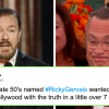 Hollywood is unhappy with Ricky Gervais' jokes on Golden Globes 2020, but everyone else loves them.