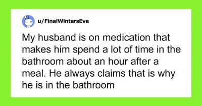 Wife Turns WiFi Off Realizing Husband Goes To The Toilet Whenever It's His Time To Take Care Of Kids