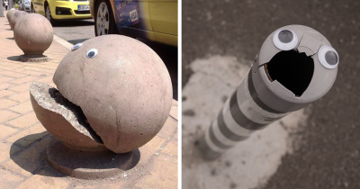 Someone Is 'Eyebombing' Broken Objects And They Look Better Than Ever