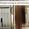 Hilarious pictures by people who are trying to sell their mirrors.