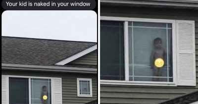 This Mom's Neighbor Texted Her A Pic Of Her Son With No Clothes In The Window And It's Hilarious