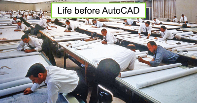 19 Vintage Pics Show How People Worked Before Discovery Of AutoCAD