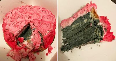 Mum Buys Michael's Patisserie Cake And Finds It Completely Green With Mould On Inside