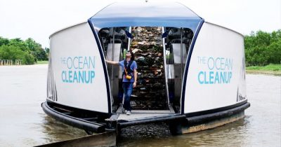 This Boy Said He'd Make Oceans Clean Themselves Just Invented Solar-Powered Barges That Clean Rivers