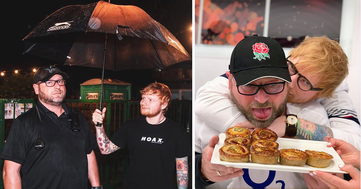 Ed Sheeran's Security Guard Has An Instagram Account, And It's Hilariously Better Than His Boss's