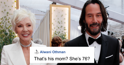 Keanu Reeves Stole Red Carpet's Attention As He Brought His Mom As Date