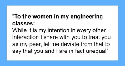 Male Engineering Student Beautifully Explains Why Female Classmates Aren't His Equals