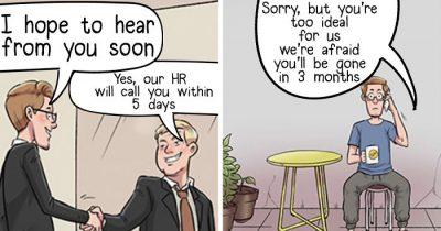 Artists Highlight The Reality Of A Jobseeker Through 10 Comics