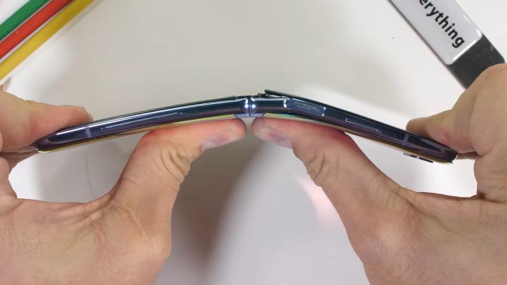 Samsung Galaxy Z Flip fails durability test with fake glass screen.