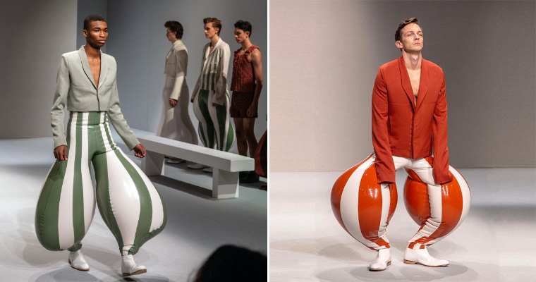 London Fashion College Presents Men S Pants 2020 Collection Green Lemon