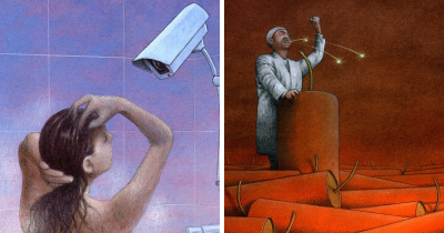 Polish Artist Draws Eye-Opening Illustrations On Our Society