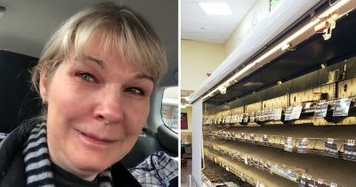 Nurse Breaks Down In Tears At Empty Supermarket Shelves After A 48-Hour Shift