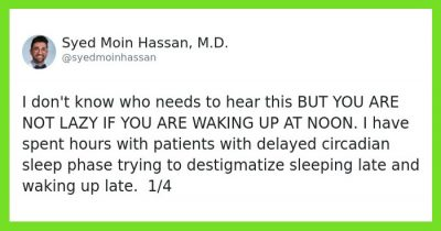'You Are Not Lazy If You Wake Up At Noon:' Doctor Destigmatizes Waking Up Late