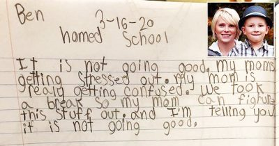 Mom Shares Hilarious Note From Son, 8, Who Criticizes Her Homeschooling Skills Amid Lockdown