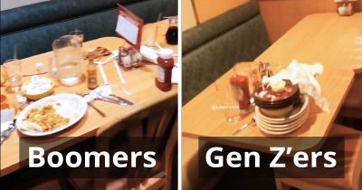 Waitress Shows How A Group Of Boomers Left Their Table Vs. A Group Of Gen Z'ers On TikTok