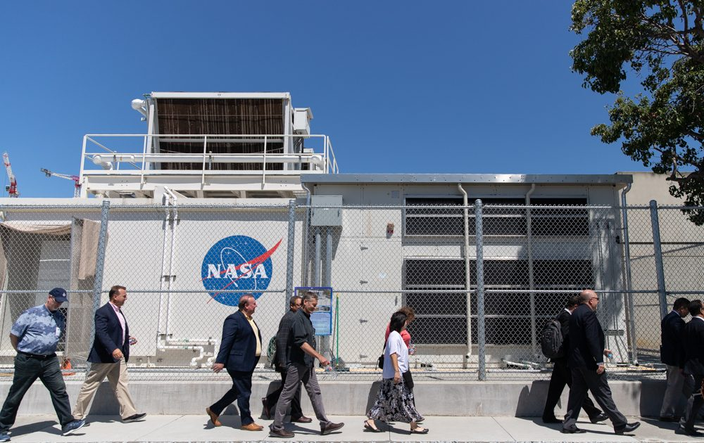 NASA Ames workers are told to go home as an employee tested positive.