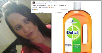 Mom-Of-Two Divides Opinion By Revealing She Bathes In Dettol Once A Week