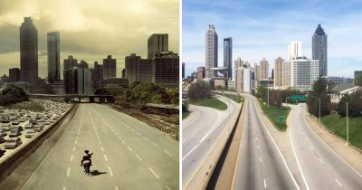 Fans Used The Quiet Atlanta's Highway To Recreate 'Walking Dead' Poster