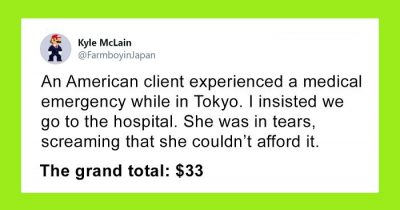 American Woman Hysterical At The Hospital In Japan For Fear She Can't Afford It, Ends Up Paying Only $33