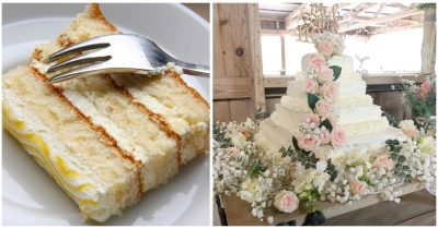 Thrifty Couple Makes Gorgeous Wedding Cake Of Less Than $50 Using Costco Sheets
