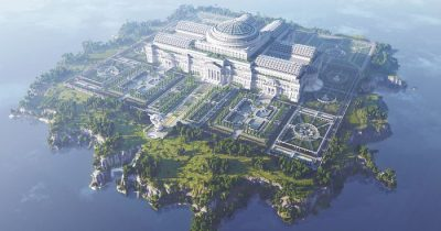 Giant Library In Minecraft Built By 24 People To Fight Censorship All Over The World