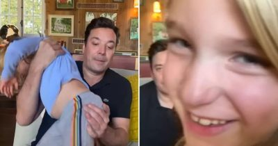 Jimmy Fallon Tried Doing His Show From Home But His Kids Kept Crashing His Monologue